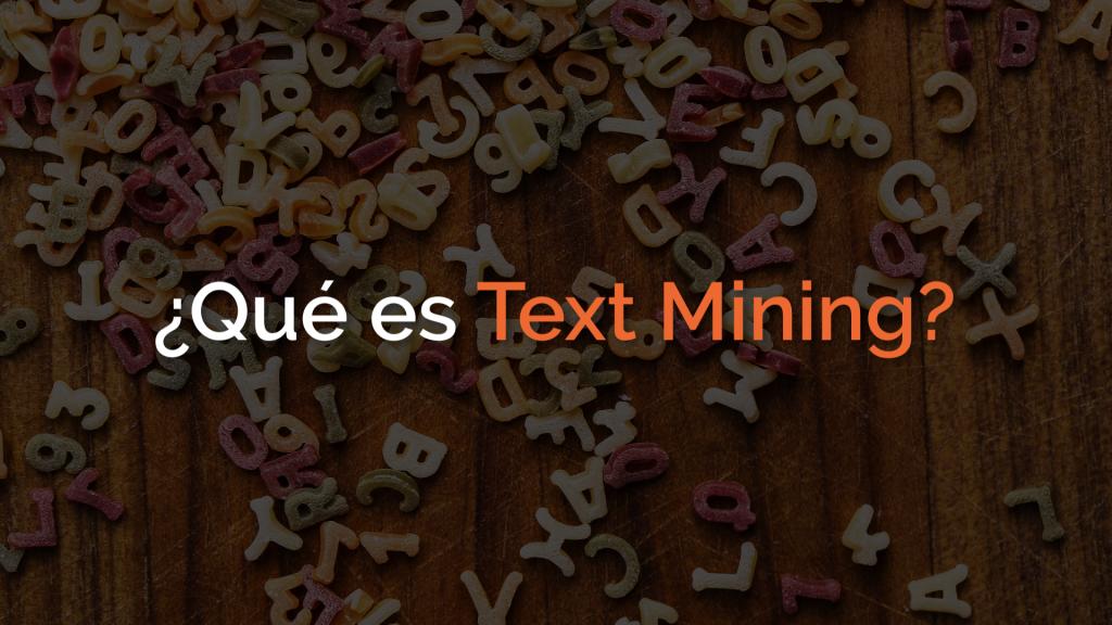 que es text mining